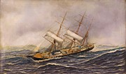 Sailing Ships Prints - Sailing Ship - Saint Mary Print by Pg Reproductions