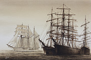 Nautical Print Painting Originals - Sailing Ships by James Williamson