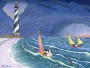 Sailing Snowmen Print by Thomas Griffin