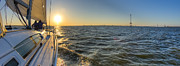 Charters Photos - Sailing Sunset by Dustin K Ryan
