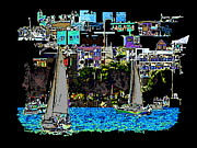Lake Union Prints - Sailing The Neighborhood Print by Tim Allen