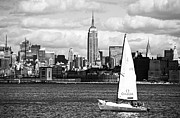 Sailboat Images Metal Prints - Sailing the New York Harbor Metal Print by John Rizzuto