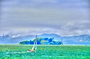 Alcatraz Art - Sailing to Alcatraz by Alberta Brown Buller