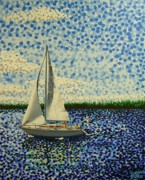 Great Outdoors Paintings - Sailing with Olivia by Alan Hogan