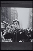 Sailor Prints - Sailor Tooting Horn, Vj Day Celebration Print by Archive Holdings Inc.