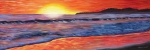 Sunset Seascape Posters - Sailors Delight Poster by Anne West