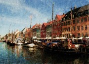 Copenhagen Framed Prints - Sailors District Framed Print by Wade Aiken