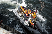 Inflatable Photos - Sailors From The Senegalese Navy by Stocktrek Images