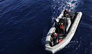 Inflatable Photos - Sailors Stand Watch On A Rigid-hull by Stocktrek Images