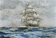 Sails Drawings - Sails Abaft by Rex Stewart