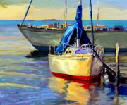 Key West Mixed Media - Sails at Rest by David  Van Hulst