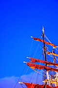 Malmo Digital Art Prints - Sails Print by Barry R Jones Jr