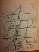 Sails Drawings - Sails by Irving Starr