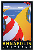 Sailing Prints - Sails Print by Joe Barsin