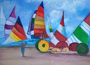 Great Outdoors Paintings - Sails by Judy Groves
