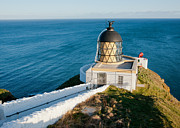Foghorn Posters - Saint Abbs Head Lighthouse and Foghorn Poster by Max Blinkhorn