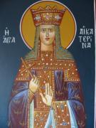 Saint Aekaterina Print by George Siaba