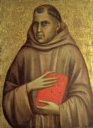 Monks Paintings - Saint Anthony Abbot by Giotto di Bondone