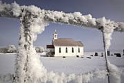 Anglican Photos - Saint Augusta Anglican Church in winter by Mark Duffy