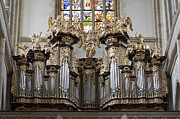 1400 Framed Prints - Saint Barbara church - Organ Loft and Stained glass in the churc Framed Print by Michal Boubin