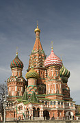 Byzantine Art - Saint Basils Cathedral (cathedral Of Intercession) Red Square, Moscow, Russia by Alexey Bubryak