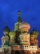Karin Jones Prints - Saint Basils Cathedral Moscow  Print by Karin Ubeleis-Jones