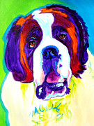 Alicia Vannoy Call Painting Framed Prints - Saint Bernard -  Framed Print by Alicia VanNoy Call