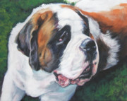 Dog Breeds R-s - Saint Bernard by Lee Ann Shepard