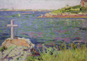 Saint  Painting Framed Prints - Saint Briac Framed Print by Paul Signac