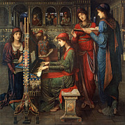 Keys Painting Framed Prints - Saint Cecilia Framed Print by John Melhuish Strudwick