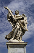 Holy Water Angel Photos - Saint Charles Bridge Angel  by Lee Dos Santos