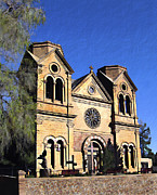 Santa Fe Posters - Saint Francis Cathedral Santa Fe Poster by Kurt Van Wagner