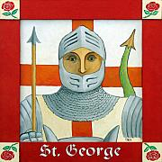 St George Painting Framed Prints - Saint George Framed Print by Paul Helm