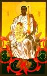 Saint John Coltrane Enthroned Print by Mark Dukes