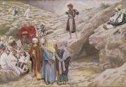 Sermon Prints - Saint John the Baptist and the Pharisees Print by Tissot