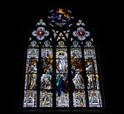 Saint Johns Stained Glass Print by David Lee Thompson