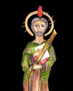 Catholic Art Prints - Saint Jude Print by Myrna Migala