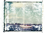 Polaroid Transfer Prints - Saint Lucie Sailboat Print by Patrick M Lynch