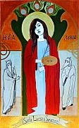 Saint Paintings - Saint Lucy by Josean Rivera