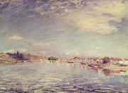 Impressionism Paintings - Saint Mammes by Alfred Sisley