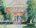 Alexandria Paintings - Saint Marys School Alexandria Virginia by Tom Harris