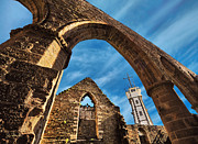 Church Ruins Framed Prints - Saint-Mathieu Abbey and Signal Tower Framed Print by Joe Bonita