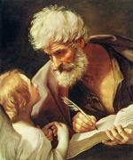 Saint  Painting Metal Prints - Saint Matthew Metal Print by Guido Reni