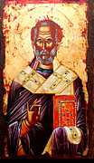 Egg Tempera Prints - Saint Nicholas Print by Artur Sula