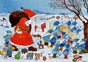 Toy Painting Prints - Saint Nicholas Print by Christian Kaempf