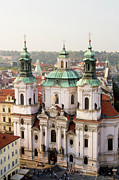 Saint Nicholas Prints - Saint Nicholas Church in Prague Print by Artur Bogacki