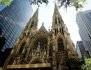 Citiscapes Photos - Saint Patricks Cathedral by Freda Sbordoni