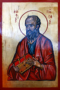 Byzantine Greek Icon Originals - Saint Paul by Filip Mihail