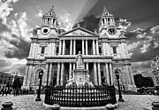 Mono Framed Prints - Saint Pauls Cathedral Framed Print by Meirion Matthias