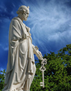 Mortality Metal Prints - Saint Peter with Keys to Heaven Metal Print by Peter Piatt